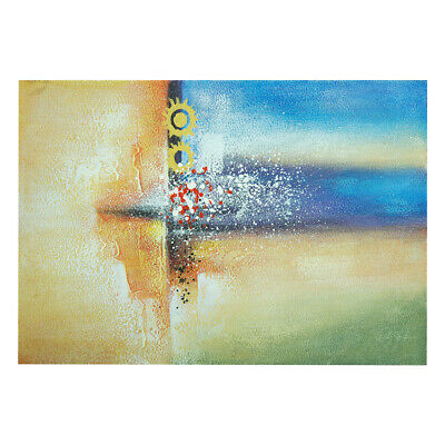 Hand Painted Modern Abstract Art Oil Painting Stretched Canvas Home Decor Framed
