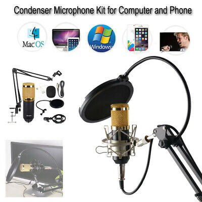 BM-800 USB Studio Wired Condenser Microphone Tool Kit For Computer Phone iphone
