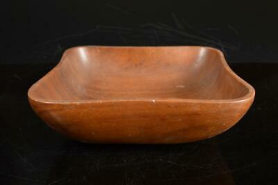 A4390: Japanese Wooden Shapely Kashiki DESSERT BOWL/dish Tea Ceremony