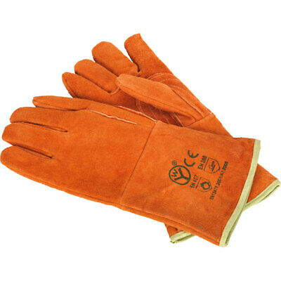 Sealey SSP151 Leather Welding Gauntlets Lined Heavy-Duty - Pair