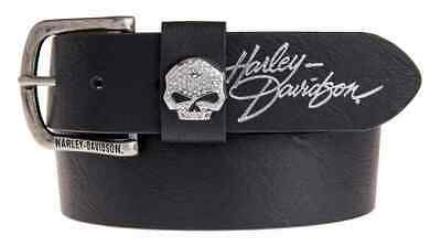 Harley Davidson Womens Rock Candy Willie G Skull Belt Black Birthday Gift
