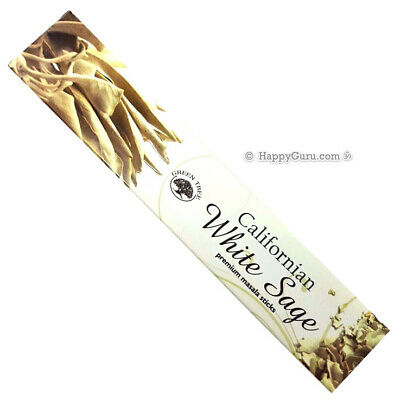 """Californian White Sage"" 1 Packet Green Tree Incense Sticks Masala Blend 1 x 15g"