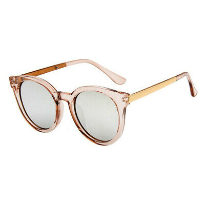 Fashion glasses Women pink sunglasses round rose gold frame silver lens Glasses