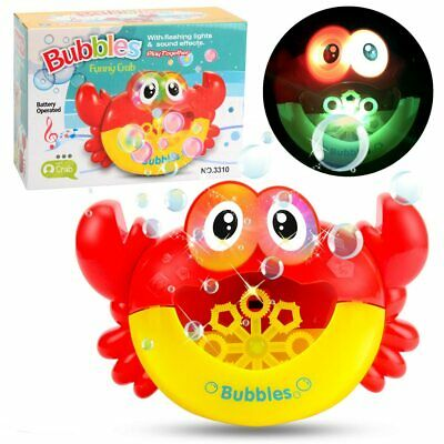 Interesting electric music automatic crab bubble machine with children's foam