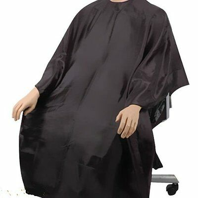 Black Salon Hairdressing Gown Cutting Hair Cloth Cover Barbers Cape