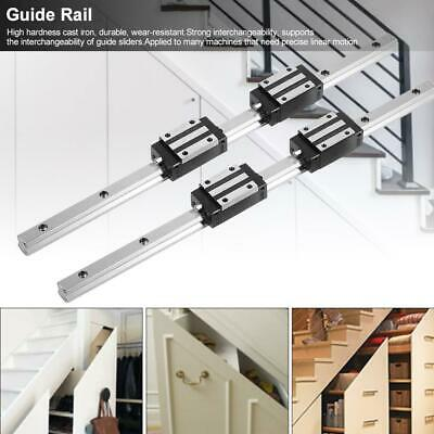 2Pcs HG15-400/500mm Linear Guide Rail with 4Pcs HGH15 Linear Bearing Slide Block