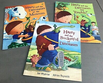 Harry and the Dinosaurs Collection of 3x Books, by Ian Whybrow