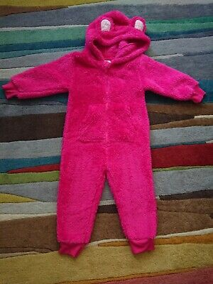 Super Cute Fluffy Onezee Pink With Animal Ears Age  2-3yrs good clean used condi