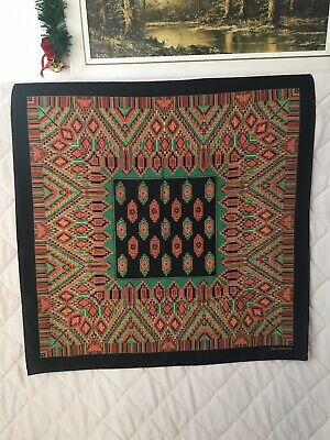 "Beautiful Ted Lapidus Vintage 1960's 70's Vintage Patterned Scarf 34""x34"""