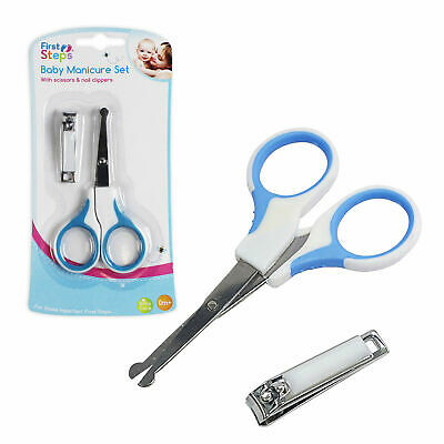 First Steps Baby Manicure Set - Scissors and Nail Clippers - Blue