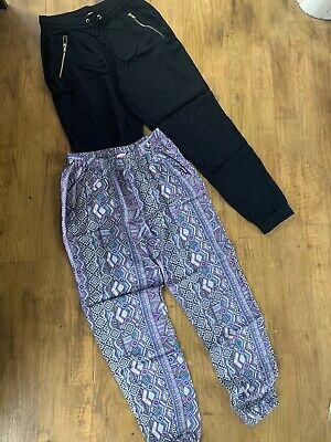 H&M Girls Summer Trousers, 2 Pairs, Age 9-10, Used Only Twice