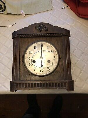 Antique H.A.C Clock Wurttemberg Germany Wooden case mantle clock