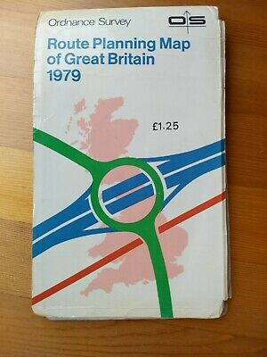 OS Route Planning Map Of Great Britain 1979 - 1:625000, one inch to ten miles