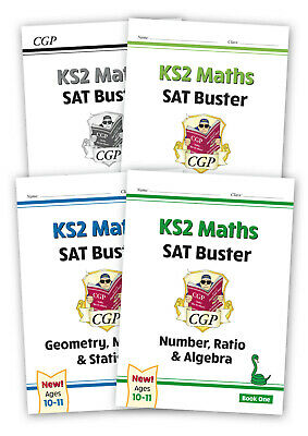 NEW CGP Complete KS2 Maths SAT Buster Book 1 Bundle + answers for the 2020 tests