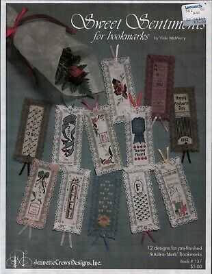 Sweet Sentiments for Bookmarks - Counted Cross Stitch Charts