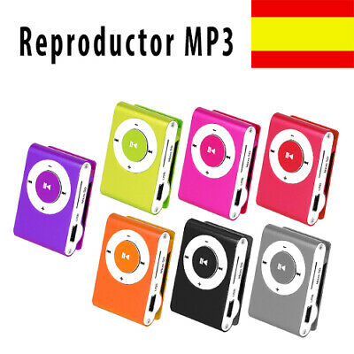 Reproductor Mp3 Mini Music Clip Tipo Ipod Usb Micro Sd Max. 8 Gb Con Auriculares