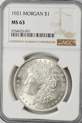 1887 Morgan Silver US One Dollar Philadelphia NGC MS63 Brilliant Uncirculated