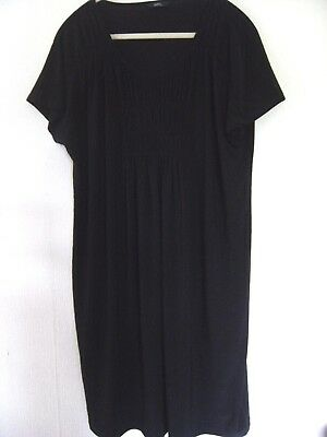 Marks and Spencer M&S Black soft ruched front tunic top smock Size 16 Gorgeous!