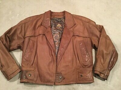 Adventure Bound Women's Brown Leather Jacket Size Small