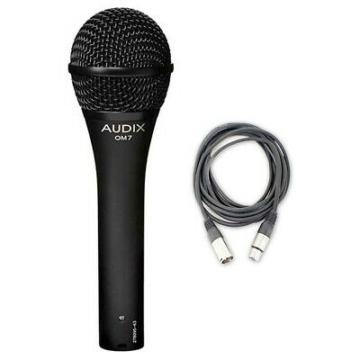 Audix OM7 Hypercardioid Dynamic Mic w/ 20ft XLR Cable NEW