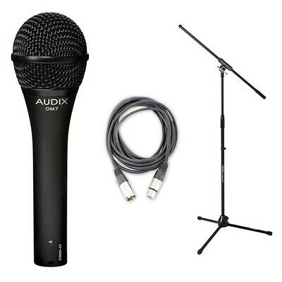 Audix OM7 Hypercardioid Dynamic Mic w/20ft XLR Cable and Stand NEW