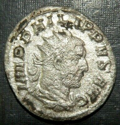 Ancient Roman Coin Philippus Caesar 244-249 AD Antique Silver Emperor Lot Old