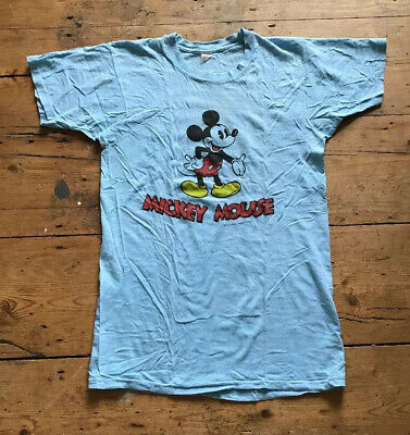 Vintage 70s 80s Walt Disney Mickey Mouse T Shirts Made In USA Size L