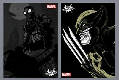 Marvel Collect By Topps Lot 2 NYCC Exclusive Rare Wolverine Spiderman Comic Con