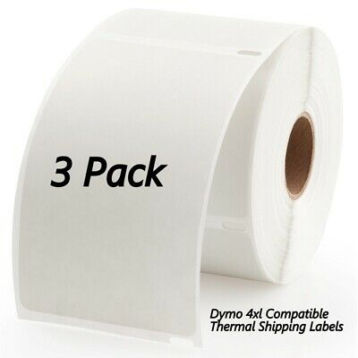 3 Rolls Dymo Compatible 4XL Internet 4x6 Postage 660 Shipping Labels Permanent