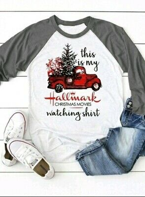 "New SMALL ""This is my Hallmark Christmas Movie Watching Shirt"" T Tee Red Truck"