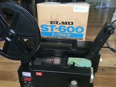 SUPER 8mm, SOUND MOVIE PROJECTOR, ELMO ST-600 New Belts