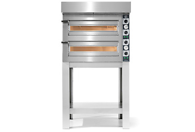 Linda Lewis Cuppone Tiziano Double Deck Pizza Oven For Pro Kitchen & Stand