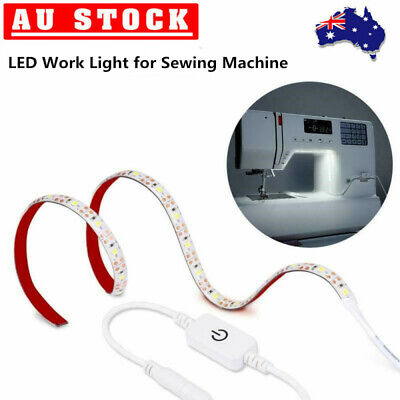 Sewing Machine Light Adhesive LED Strip Lights Daylight w/Touch Dimmer&USB Power