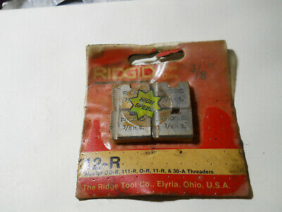 """Ridgid 12R 3/8"""" Pipe Dies New in Package & A Few Extra Die Inserts for 3/4"""
