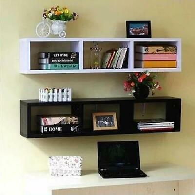 Wall Shelf Floating Shelves Storage 3 Grids Wall Mount Display Bookshelf Unit