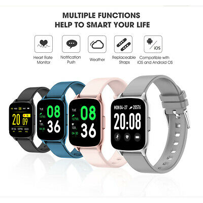 KINGWEAR KW17 Smart Watch Blood Pressure Oxygen Fitness Activity Tracking Q1Y3
