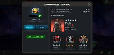 Marvel Contest of Champions Account - MCOC - 800k+ Rating
