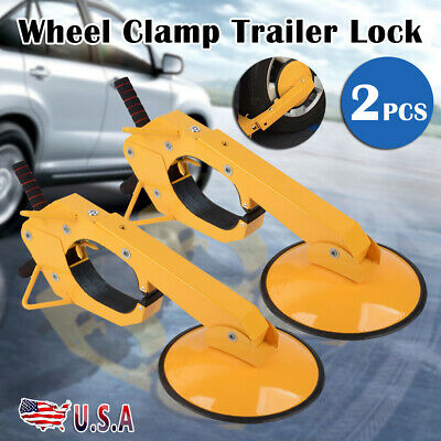 2pcs Wheel Tire Boot Lock Clamp Claw For Car RV Boat Truck Trailer Anti Theft