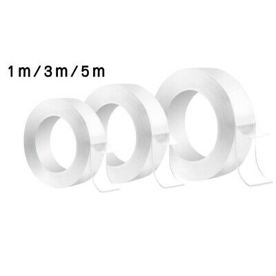 1pc Clear Nano Double-Sided Grip Tapes Traceless Adhesive Invisible Gel Reusable