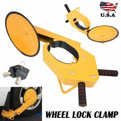Wheel Tire Boot Lock Clamp Claw Fits For Car RV Boat Truck Trailer Anti Theft US