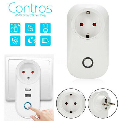 WiFi Smart Socket Power Strip Outlets 2 USB Switch Remote Control by Smart Phone