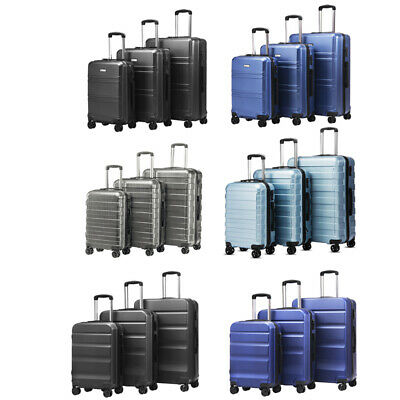 Lightweight Business Travel Suitcase Carry on Luggage Set 360° Trolley Spinner