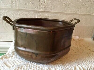 Vintage Copper Planter Mid 20th Century French Hand Made