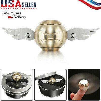 EDC Harry Potter Gold Snitch Hand Fidget Spinner Wings Stress Relief Toys Xmas