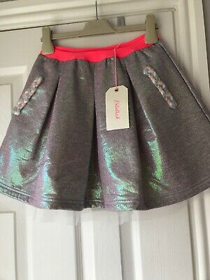 Bnwt BillieBlush Purple Metalic Mermaid Unicorn Skirt Age 10 Next