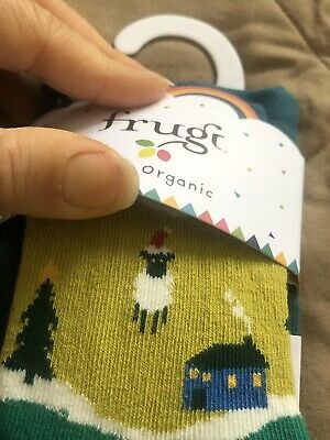 BNWT Frugi Festive Tights 2-4 years Christmas Sheep