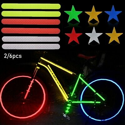 Outdoor Night Riding Cycling Reflective Stickers Roll Safety Tape 2x2x1 Inches