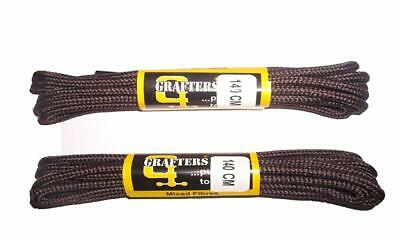 Grafters 2 Pairs 140CM Strong Work/Hiking/DR Martens Boot Laces Shoe Lace UK