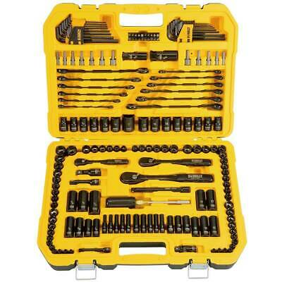 DEWALT 181 Piece Mechanics Tool Kit Spanner Socket Set Ratchet Black Chrome NEW