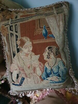 Beautiful Early Victorian needlework cushion perfect condition